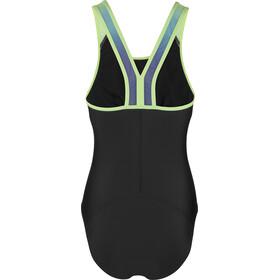 speedo Hydrosense Glideback Swimsuit Dame black/green
